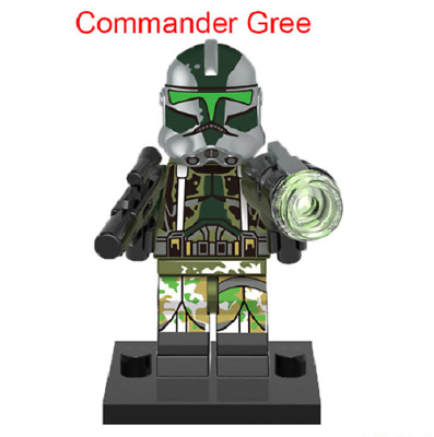 Mini Figurine NEW Fits  Star Wars Commander Gree