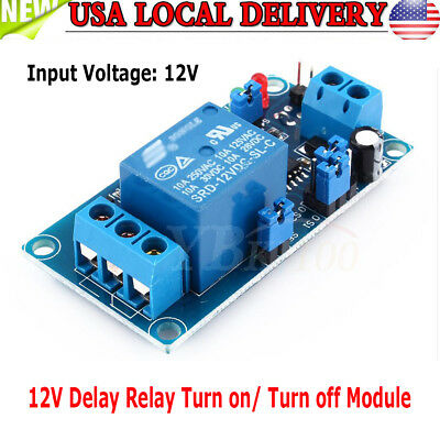 DC 12V 48mA Adjustable Timer Delay Turn On/Off Switch Time Relay Module ark US