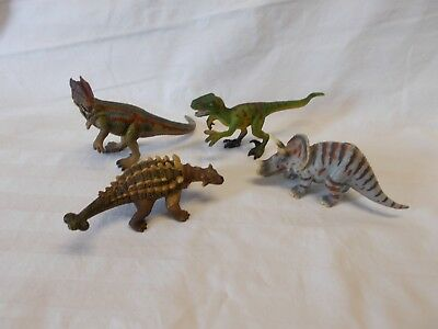 "Set Of Four - Schleich Dinosaurs -  5"" - 6"" Long"