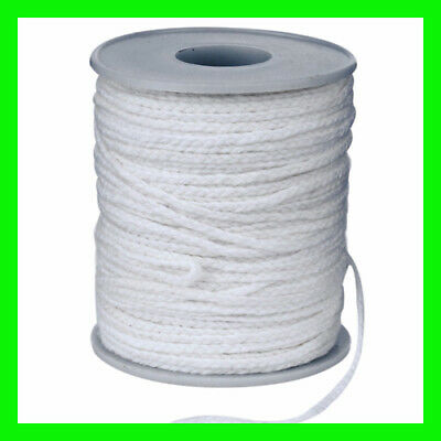 Spool of Cotton Square Braid Candle Wicks Core 61m x2.5mm Candle Making Supplies