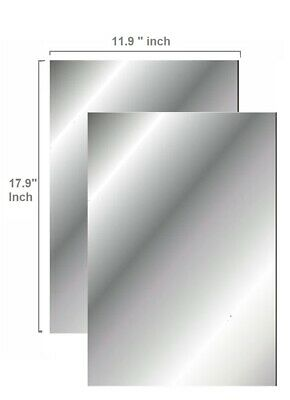 "Flexible Mirror Sheets 11.9"" X 17.9'' Inch Soft Non Glass Cut To Size Craft 2 pk"