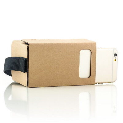 Cardboard 3D Brille für Apple iPhone 4 4S 5 5S 5C 6 6S Virtual Reality VR Pappe