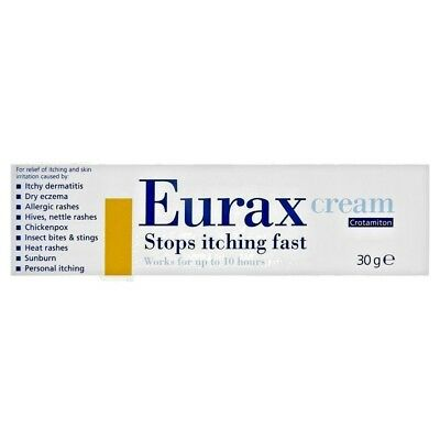 Eurax Cream 30g Relief From Itching & Skin Irritation FREE POST UK SELLER