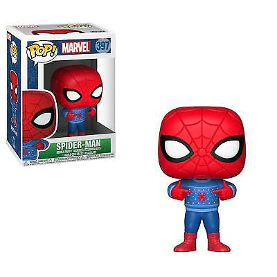 Funko Pop Marvel: Holiday Spider Man with Ugly Sweater 397 33983 In stock