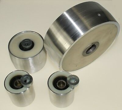 "Belt Grinder wheel set for knife grinder 6"" Drive-19mm shaft 3"" track 2"" Idler"