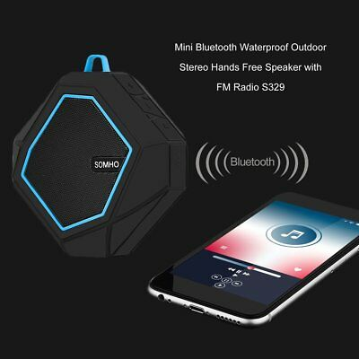 Mini Bluetooth Waterproof Outdoor Stereo Hands Free Speaker with FM Radio S329 A