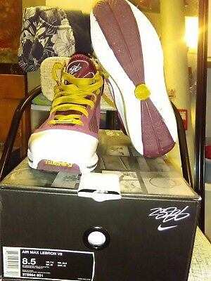 new style 2446f f1c9a Nike Air Max Lebron 7 Christ The King CTK Deep Maroon Gold size 8.5