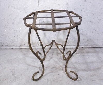 "18"" Med Wrought Iron Table Patio Furniture"