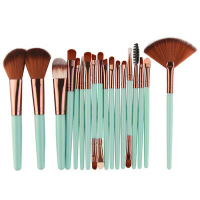 Professional 18Pcs Makeup Brushes Set Face Powder Blush Eyeshadow Lip Brush Kit