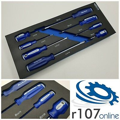 Blue Point 8pc Screwdriver Set, Tool Control Foam, Incl VAT. As sold by Snap On.