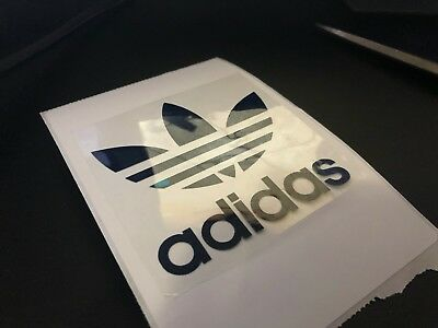 Adidas Trefoil Logo Iron On/heat Press Clothing Transfer 8.5 X 8.5 Cm Navy Blue