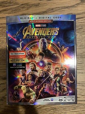 Avengers: Infinity War Marvel blu-ray + digital brand new sealed free shipping!