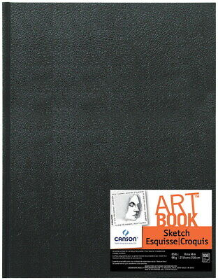 Canson Basic Hardcover Sketchbook, 65 lb, 11 x 14 Inches, 90 Sheets, White