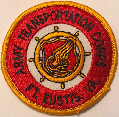 US Army Transportation Corps Ft Eustis Virginia VA Military Patch