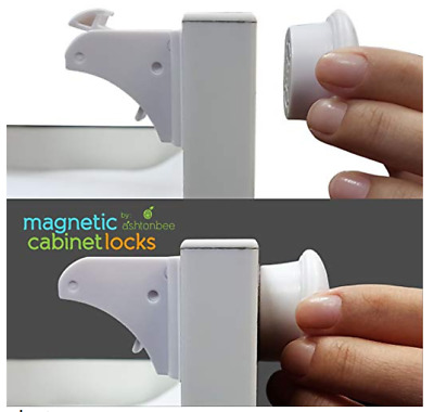 4pc Magnetic Cabinet Lock for Child Safety - Baby Proof Doors Closets Childproof