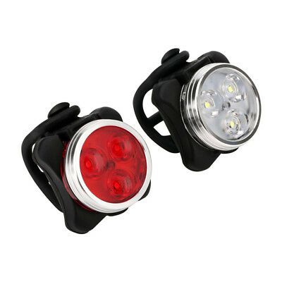 3LED Waterproof Bicycle Bike Lights Front Rear Tail Light Lamp USB Rechargeable