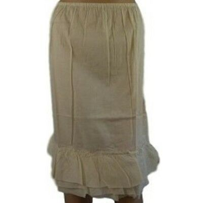 HALF SLIP 100% COTTON Petticoat with Frill NEW Size 12 14 16 18 20 Skirt