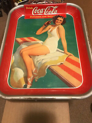 AUTHENTIC Vintage COKE COCA COLA 1939  ADVERTISING SERVING TIN TRAY