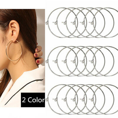 20PCS Charms Beading Hoop Loop Earring Ear Wire Jewelry Making Findings DIY