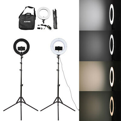 SMD LED Ring Light Dimmable 5500K Continuous Lighting Makeup Photo Video Kit OG8