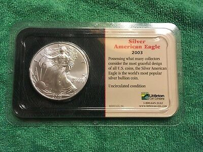 2003 Silver American Eagle Uncirculated Littleton Coin Company