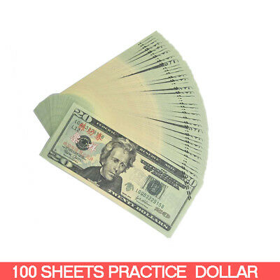$20 Banknote Dollar 100 Sheets Currency USA Gift Money Paper Bank Note Fake Bill