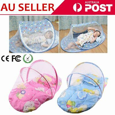 Baby Mosquito Net Infant Kids Foldable Canopy Tent Camping Travel Bed Cot Pop LQ