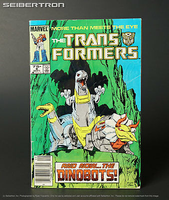 THE TRANSFORMERS #8 1985 Marvel Comics US G1 Comic Book DINOBOTS cover 181017h3