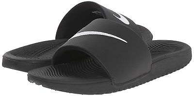 7690758f48 NIKE KIDS KAWA Slide Sandal Black & White Boys Girls Unisex Size 11 ...