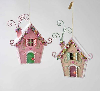 Katherine's Collection - Sweet Christmas Candy House Ornaments Set 2 - 28-828424