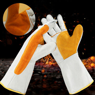 1 Pair Welding Gloves Heat Shield Cover Guard Hand Safe Protection Welders Glove