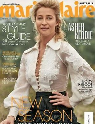 Marie Claire Australia Magazine Nov 2018 - Asher Keddie, Race Day Style Guide