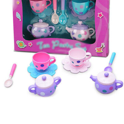 8pcs Plastic Tea Set Pretend Play Interactive Toy For Children Simulation Lovely