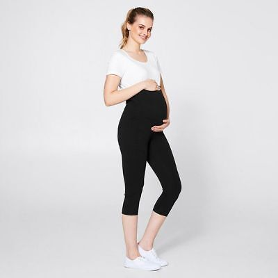 NEW Maternity Over The Belly 3/4 Leggings