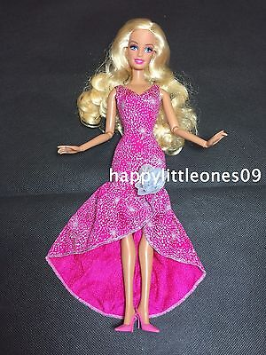 Brand New Barbie Doll Wedding Party Evening Dress/Clothes/Outfit Pink with Shoes