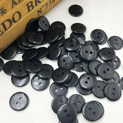 100 pcs Black 15mm 2 holes Plastic Button/Sewing lots Mix-Free Shipping PF271
