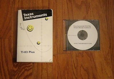 Texas Instruments TI-83 Plus Graphing Calculator Owners Manual/Guidebook & CD