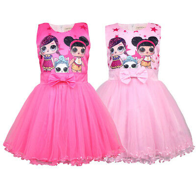 Girls Lol Surprise Doll Princess Dress Kids Xmas Party Holiday Birthday Dress AU