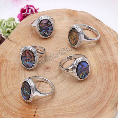 Natural Abalone Shell Rings 5pcs/lot Wholesale Women's Rings Mixed Size