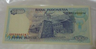 Indonesia 1000 Rupiah Banknote. Mint Uncirculated,