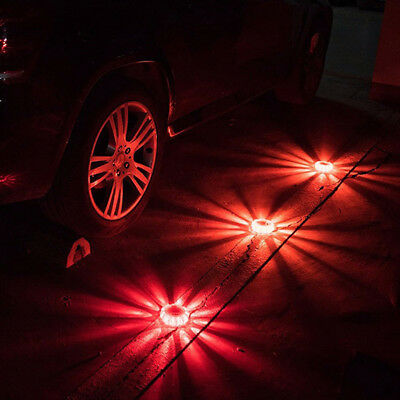 1Pc Led Road Flares Flashing Warning Roadside Safety Light For Car Truck Moto