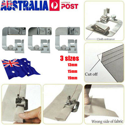 AU Stock Rolled Hem Foot Home Sewing Machine Hemming Cloth Strip Presser Feet MN