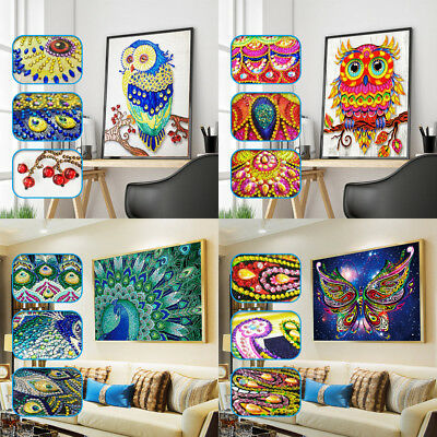 Glitter Special Shaped Diamond Painting DIY 5D Partial Drill Cross Stitch Kits