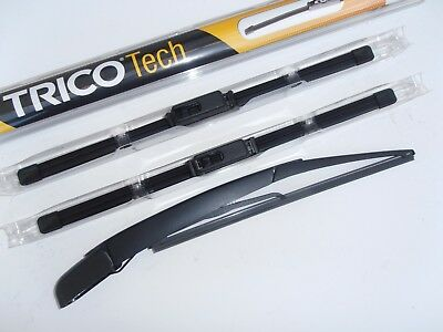 Ford Focus Estate 1998-05 Latest Style Front Wiper Blades.+Smooth Rear Arm Blade