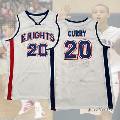 Stephen Curry #20 Charlotte Christian Knights Basketball Jersey