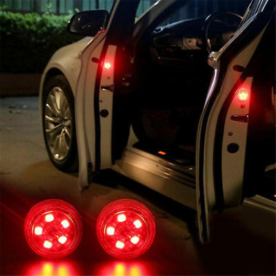 LED Car Door Warning Light Universal Easy Installation Waterproof Plastic 1Pair