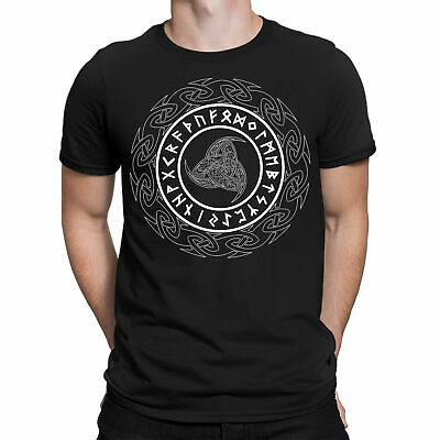 Viking Horn Of Odin Symbol T-Shirt Thor Ragnar Nordic Unisex Adult Kids Tee Top