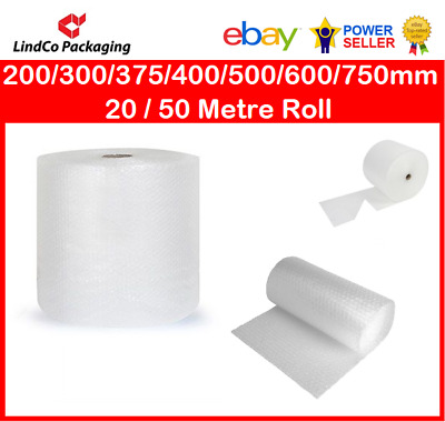 Bubble Cushion Wrap 200/300/375/400/500/600/750mm  20 / 50 Metre Roll NATIONWIDE