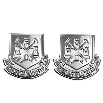 West Ham United FC Official Football Gift Chrome Executive Cufflinks