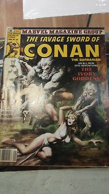 The Savage Sword Of Conan The Barbara in Marvel Magazine Group Ivory Goddess